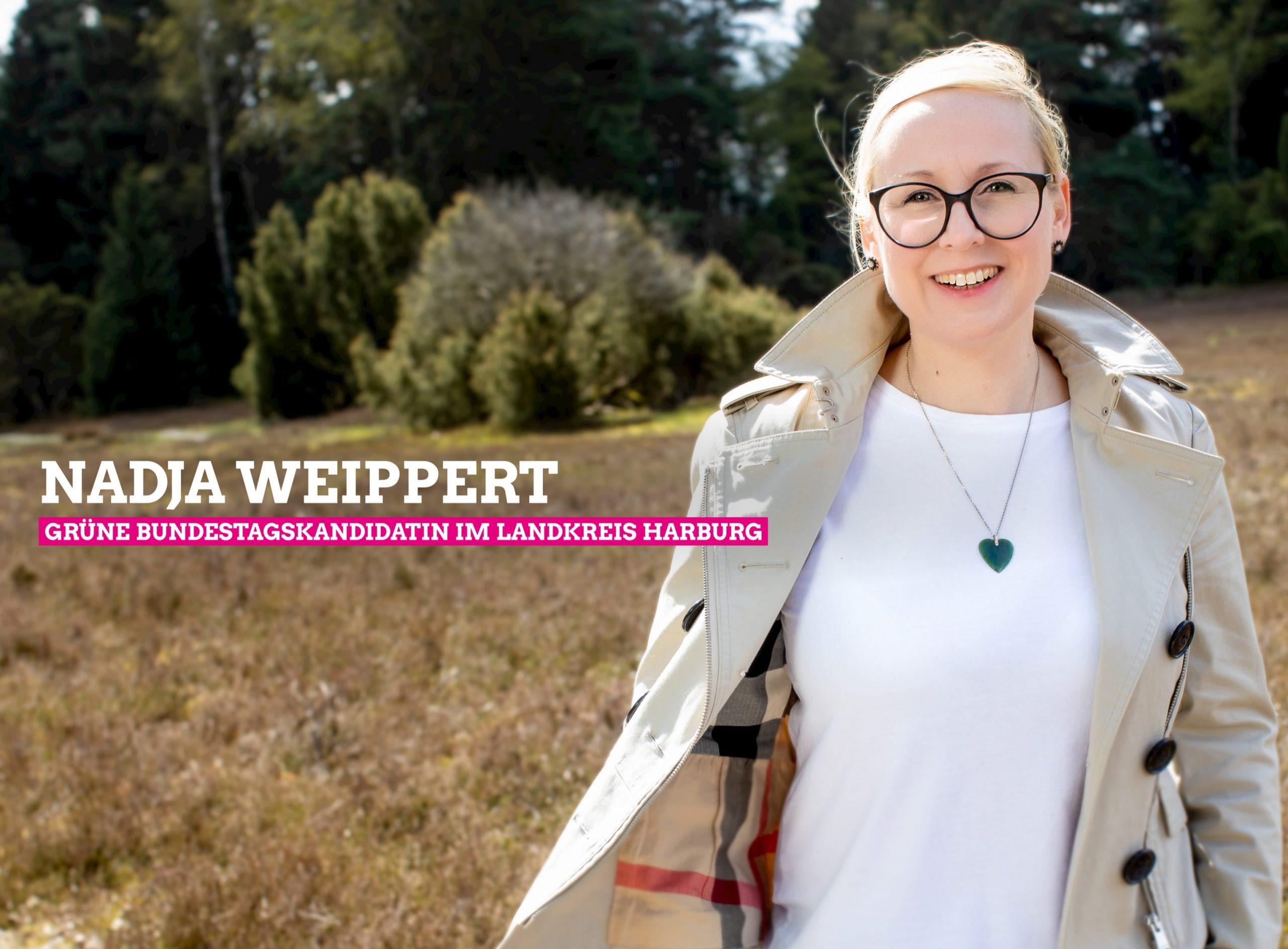 Nadja Weippert ist erneut GRÜNE Direktkandidatin im Landkreis Harburg für die Bundestagswahl 2021